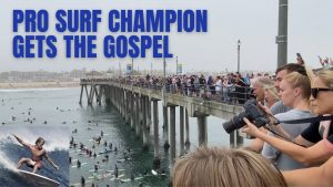 Pro Surfer Gets an Earful from Ray Comfort